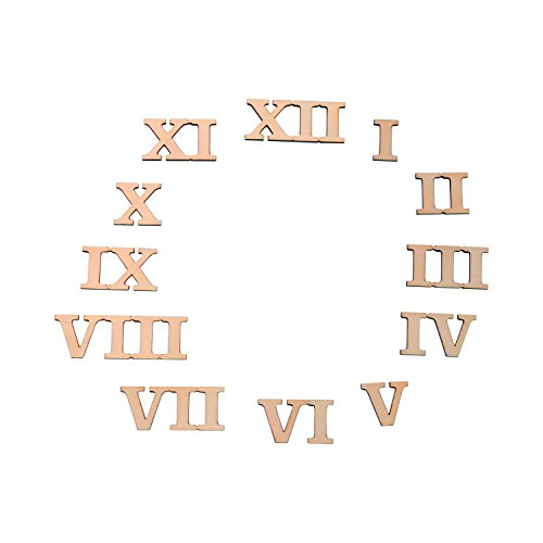 1 inch Roman Numeral Wood Clock Number Set of 12 (1 Inch Clock)