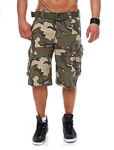 Ripstop Cargo Shorts-GC-31 Green Camo