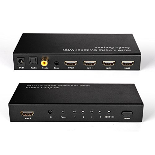 Digital Optical Coaxial Toslink To Analog Rca Stereo Audio Converter