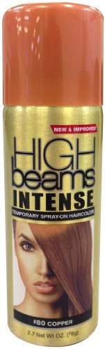 High Beams Intense Temporary Spray On Hair Color - #80 Copper 2.7 oz. (Pack of 2) -
