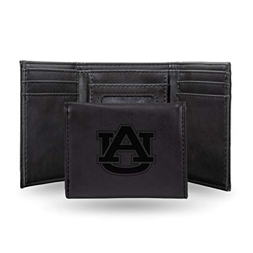 Rico Industries NCAA Auburn Tigers Laser Engraved Tri-Fold Wallet, - Tigers Money Clip Black Auburn