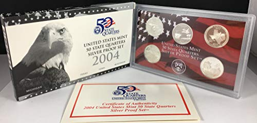 2004 S US Mint Quarters Silver Proof Set OGP ()
