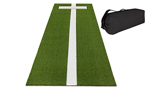 (All Turf Mats Pro-Ball Softball Pitching Mat with Power Line and Case, Green - 3 feet x 10 feet)