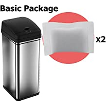 iTouchless Deodorizer Sensor Can, Touch-Free Automatic Trash Can, Stainless Steel, 49 Liter / 13 Gallon (Basic Package)