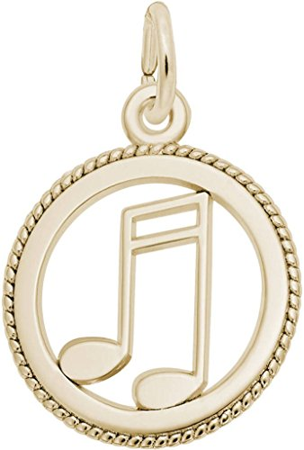 Rembrandt Music Charm - Metal - 14K Yellow Gold