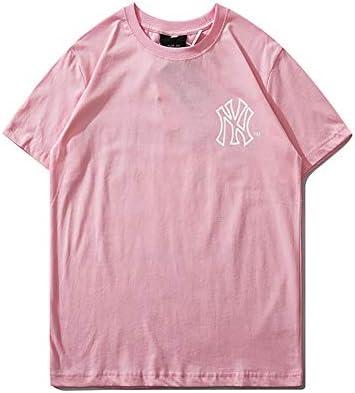 CPAI Unisex Teens MLB NY Yankees Camiseta de Manga Corta Ocio Deportes Uniformes de béisbol tee para Hombres y Mujeres,Rosado,L: Amazon.es: Hogar