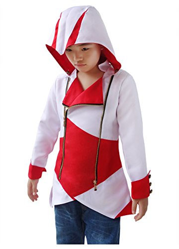 DAZCOS US Size For Assassins Cosplay Connor Jacket/Coat/Hoodie (Child (Assassins Creed Hood)