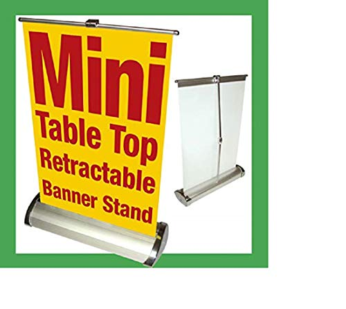 Banner Stands Mini Table Top Retractable Tradeshow Display A3 11.5x16.5