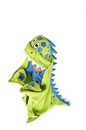 Lazy One LazyOne Children's Hooded Animal Critter Blankets For Kids (Dinosaur Dino (Dinosaur Sleeping Bag)