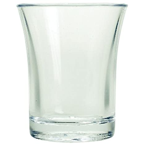 Crystal Polystyrene CE Stamped to Rim Pack x 10 Reusable Stacking Half Pint Plastic Glasses