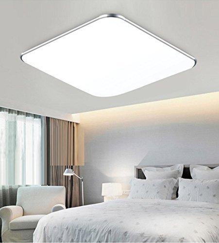 SAILUN 12W Kaltweiß Ultraslim LED Deckenleuchte Modern Deckenlampe Flur Wohnzimmer Lampe Schlafzimmer Küche Energie Sparen Licht Wandleuchte Farbe Silber