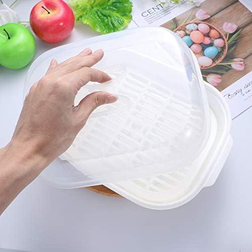 41jPIMNc4HL. AC UPKOCH Microwave Food Steamer Cooking Steamer Basket for Fish Vegetable Buns(Random color)    Description