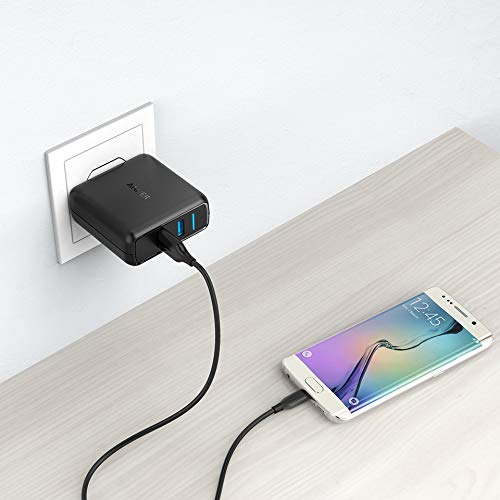 Anker Quick Charge 3.0 39W Dual USB Wall Charger, PowerPort Speed 2 for Galaxy S10/S9/S8/Edge/Plus, Note 8/7 and PowerIQ for iPhone Xs/XS Max/XR/X/8/Plus, iPad Pro/Air 2/Mini, LG, Nexus, HTC and More