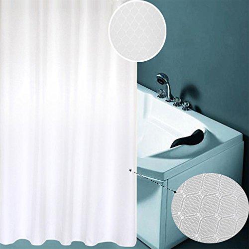 Heavy Duty Moisture Meter - Yukkio Waffle Weave Fabric Shower Curtain – Spa, Hotel Luxury, Heavy Duty, Water Repellent, White – Pique Pattern, 70