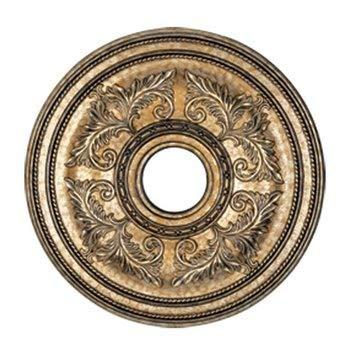 Livex Lighting 8200-65 Ceiling Medallion, Hand Painted Vintage Gold Leaf ()