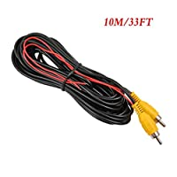 Backup Camera RCA Video Cable,CAR Reverse Rear View Parking Camera Video Cable with Detection Wire (10 Meters)