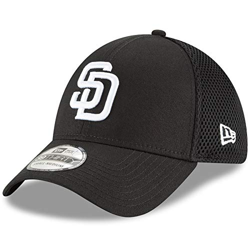 New Era San Diego Padres Black Neo 39THIRTY Flex Hat (Small/Medium) (San Diego Fence)