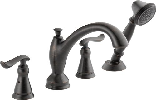 Chrome Roman Tub Set (Delta T4794-RB Linden Roman Tub with Handshower Trim, Venetian Bronze)