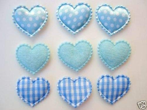- 60 Mix Fabric Hearts Applique/Felt/Satin/Gingham/Baby/Trim #ID-1170