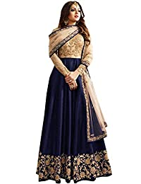a4538fcbb STELLACOUTURE Women's Heavy Embroidered Indian Wear Anarkali Salwar Kameez  LT
