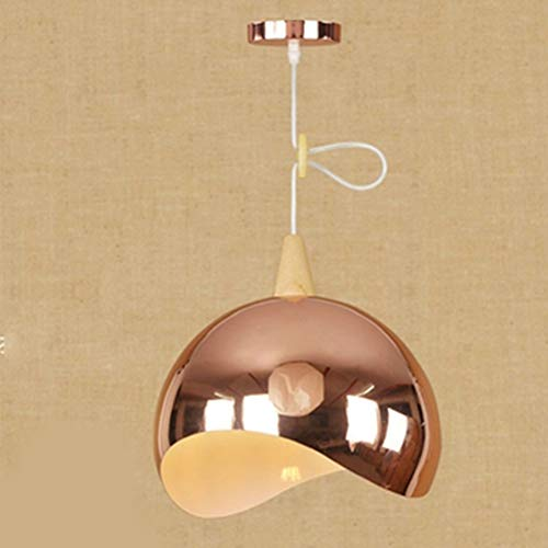 IJ INJUICY Tom Dixon Glass Ceiling Pendant Fixture, Glass with Brushed Brass, European Art Pendant Light for Restaurant, Bar, Bedroom, Clubhouse, Living Dining Room (C, Copper)
