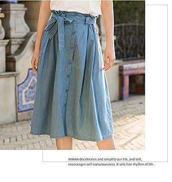 DQHXGSKS 100% Algodón Falda Mujer Verano Nuevo Diseño Flounce Lady ...