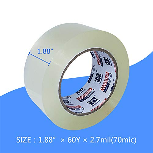 Heavy Duty Packing Tape 2.7 mil Clear For Packaging And Shipping Strong 6 Rolls