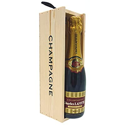 Charles Lafitte Grande Cuvee Brut Champagne – 37.5cl – Champagne Wooden Gift Box