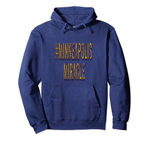 Commemorative Hoody (Unisex #Minneapolis MIracle Hooded Shirt Commemorative Gift Hoodie Large Navy)