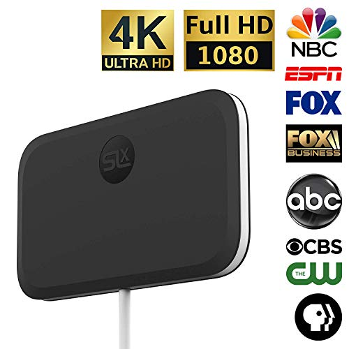 (SLx TV Antenna Ultra Compact for Digital TV Indoor 4K HD | Free OTA Channels HDTV)