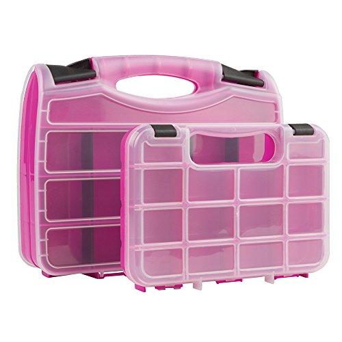 The Original Pink Box PB2PSC Portable Storage Case Set, Pink, 2-Piece