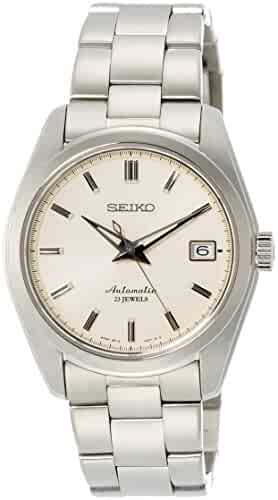 Seiko Men's Japanese Automatic Stainless Steel Casual Watch, Color:Silver-Toned (Model: SARB035)