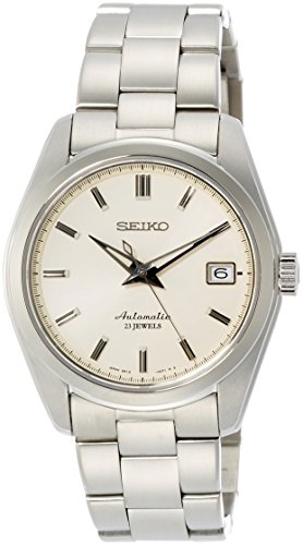 (Seiko Men's Japanese-Automatic Watch with Stainless-Steel Strap, Silver, 20 (Model: SARB035))