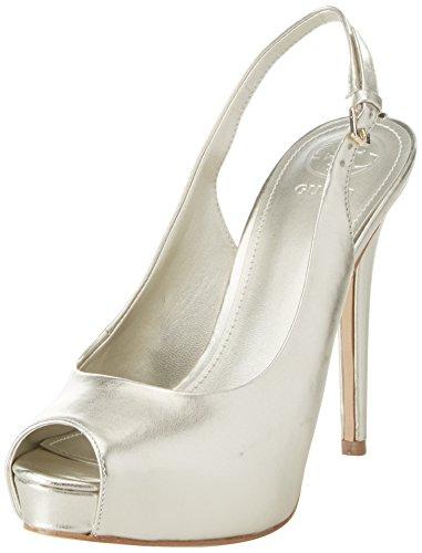 Guess Plateaupumps Footwear Damen Sling Dress Platino Back qpqfU1wx