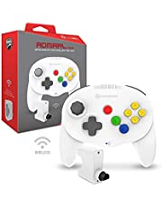 "Hyperkin ""Admiral"" Premium BT Controller for N64 (White) - Nintendo 64"