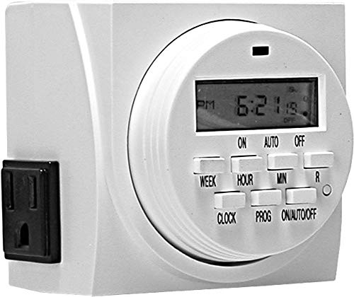 (Autopilot Dual Outlet 7-Day Grounded Digital Programmable Timer, 1725W, 15A, 1 Second On/Off )