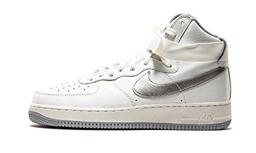 Nike Air Force 1 Hi Retro Quickstrike Release Vera Pelle Sneaker Rossa 743546 600 Summit White/Wolf Grey