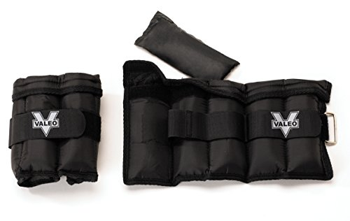 Valeo AW10 10-Pound Adjustable Ankle/Wrist Weights (5 Pounds Each) by Valeo
