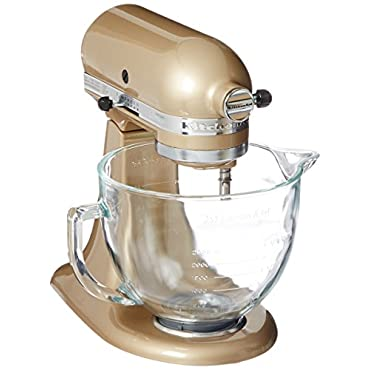KitchenAid KSM155GBCZ Artisan Design Series Glass Bowl, 5 quart (Champagne Gold)