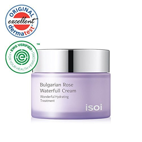 isoi Bulgarian Rose Waterfull Cream 20ml- Natural Facial Moisturizer, For Sensitive and Dry Skin, Long Lasting Hydration, Natural Moisturizer, Top Scoring EWG Verified Review