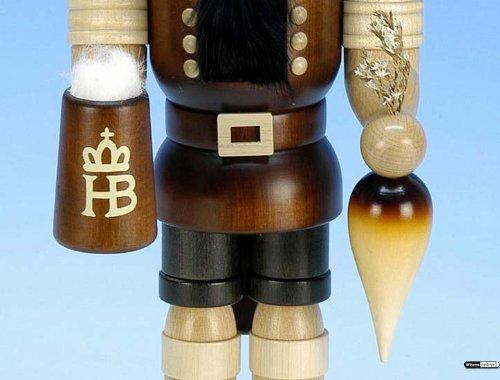 German Christmas Nutcracker Bavarian natural colors - 37,5 cm / 15 inch - Christian Ulbricht