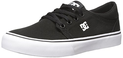 DC Men's Trase TX Skate Shoe, Black/White, 9 M US