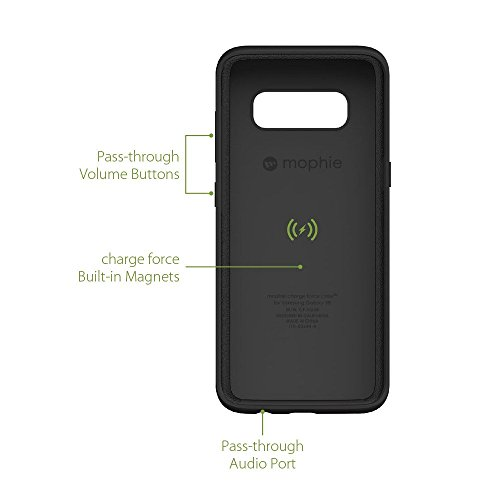 mophie charge force magnetic case & powerstation mini Made for Samsung Galaxy S8 - Black by mophie (Image #3)
