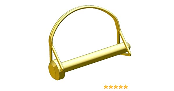 Round Wire Steel Zinc Yellow 1//4 diameter X 1-3//4 grip length Pack of 10 Innovative Components AL4X1750RND22 Wire Lock Pin