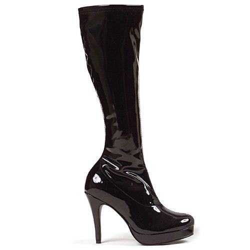 Ellie Shoes Women's Groove Boot - 4-Inch Heel Superhero Boots, Black, Size 12 (Dress Up Women Boots)