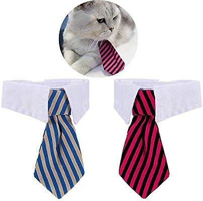 ysister 2 Piezas Corbatas para Perro o Gato, Corbatas y Pajarita ...