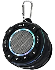Retekess TR622 Bluetooth-doucheradio, IP67 Waterdichte Radio, Stofdichte Draadloze Bluetooth 5.0-luidspreker Draagbaar met FM-radio, Stereo, Lichtshow, voor Douche, Feest, Zwembad, Strand, Reizen