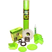 """Trugard Waterproof Shower Kit - 220 Sqft - with Drain Kit Included - Fits up to 72"""" x 72"""""""