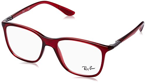 Ray-Ban Unisex 0RX7143 Transparent Red One Size