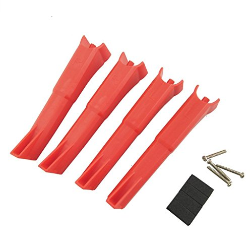 Fytoo Helicopter Accessory 4PCS Landing Gear for Hubsan H501S H501A H501M H501S W H501S pro H501C X4 FPV Bushless Four-axis Aircraft Remote Control Helicopter Landing Skids Parts (red) ()